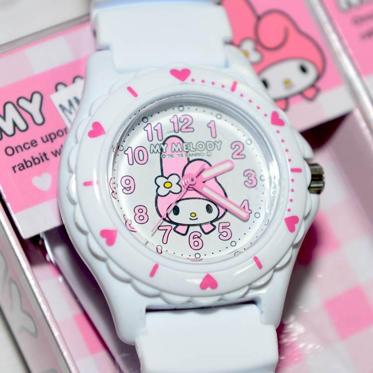 My Melody 美樂蒂 CITIZEN 星辰錶 氣壓防水指針式手錶 日本限定 附精美禮盒