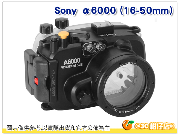 Sony α6000 (16-50mm) 潛水殼 - 黑 浮潛 游泳 海邊 活動 相機 下水 拍照 佳美能公司貨