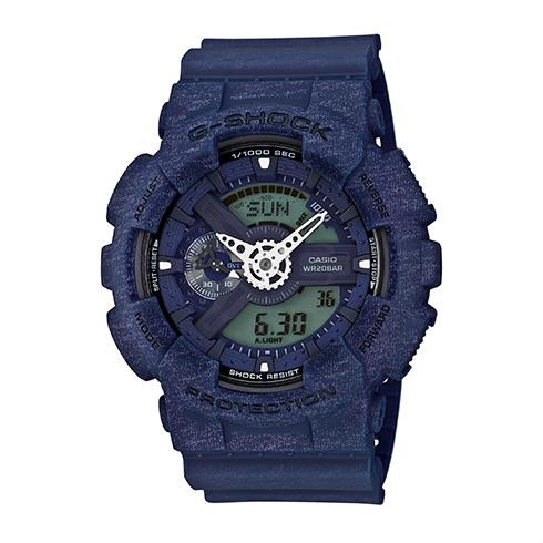 CASIO G-SHOCK GA-110HT-2A石灰紋流行腕錶/51mm