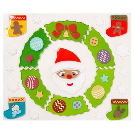 聖誕窗貼 花圈與襪子