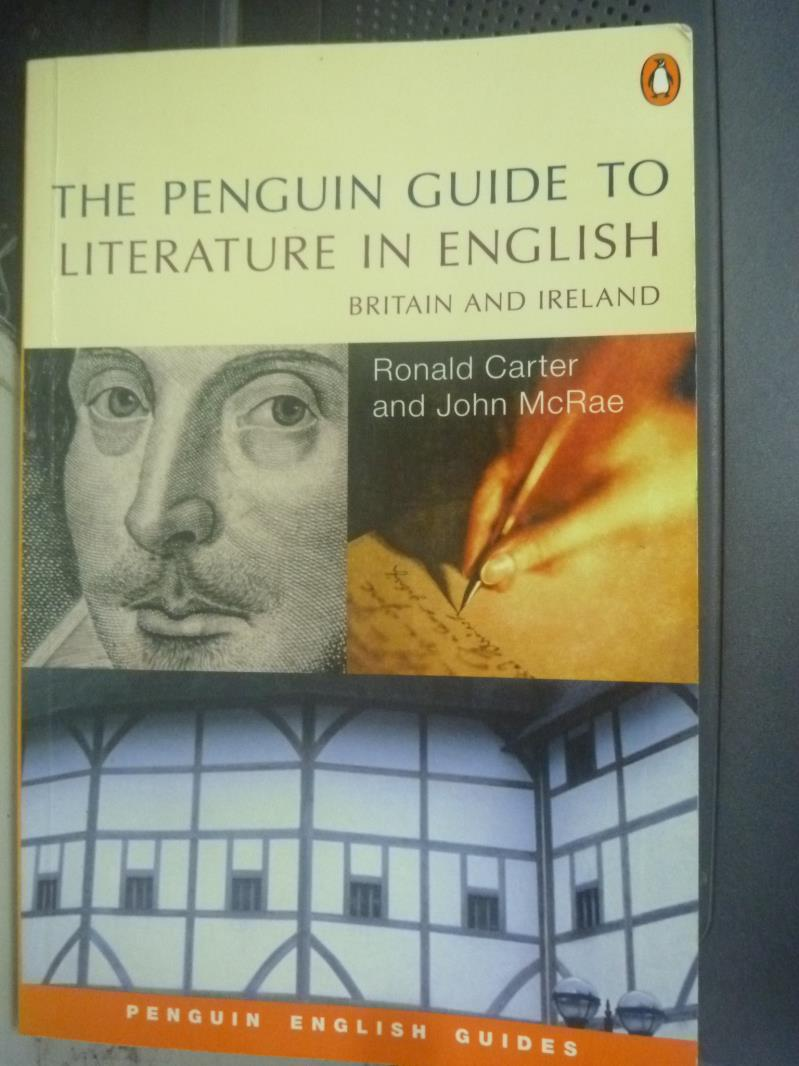 【書寶二手書T1/語言學習_XBS】The penguin guide to literature in english_CARTER