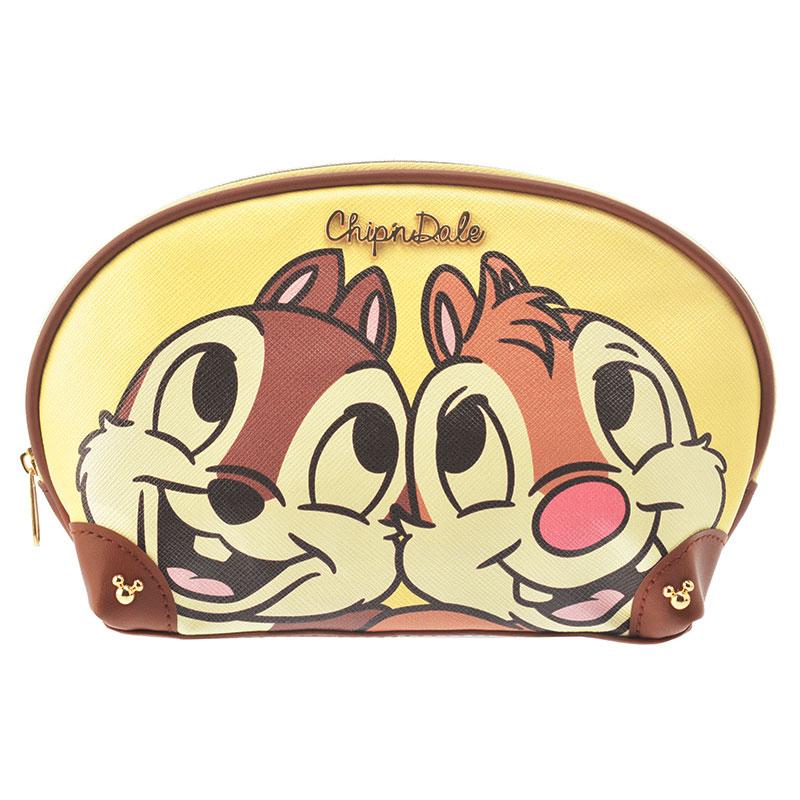 【真愛日本】15112400011 限定DN皮革金飾化妝包-奇蒂 迪士尼專賣店限定 化妝包 收納包