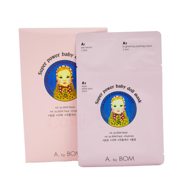 韓國 A.by Bom Super Power Baby Doll Mask 超能嬰兒面膜 (盒裝10入) 【庫奇小舖】