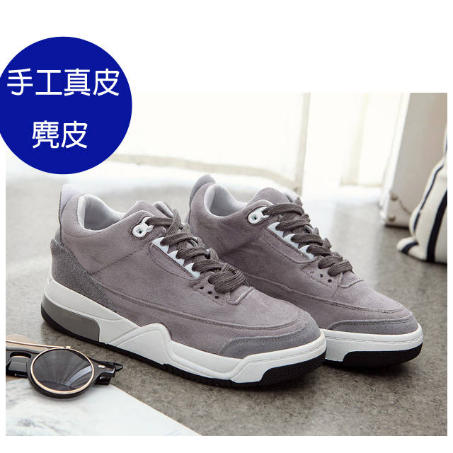 設計師鞋款 ♥與你時尚♥2016新款真皮麂皮減震 運動鞋 慢跑鞋 休閒鞋
