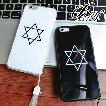☆BOY-2☆【N4007】六芒星鏡面掛繩手機殼 蘋果iPhone6 5/5s