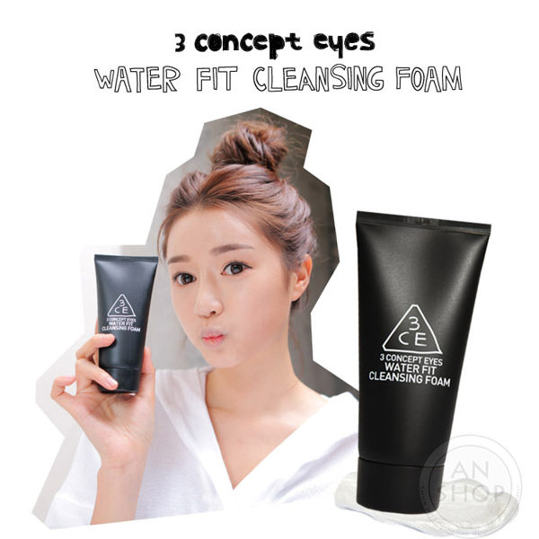 韓國3CE(3CONCEPT EYES)WATER FIT CLEANSING FOAM高保濕洗面乳120ml【AN SHOP】