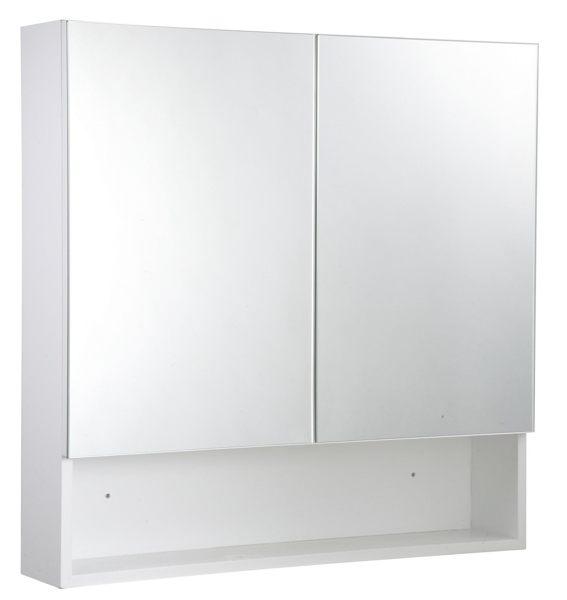 雙門鏡櫃 鏡箱 PVC發泡板(好收納) 極簡風浴室鏡櫃 衛浴化妝鏡  尺寸:長70*寬15*高80cm