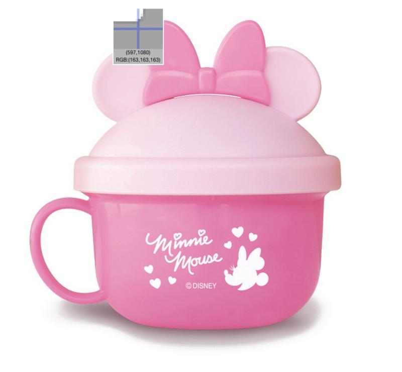 『日本代購品』米妮粉-附湯匙  迪士尼米妮粉 快餐碗 兒童零食碗 附湯匙 日本製