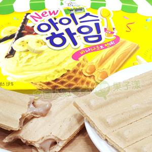 韓國CROWN 香蕉巧克力聖代威化酥 脆餅 [KR259]