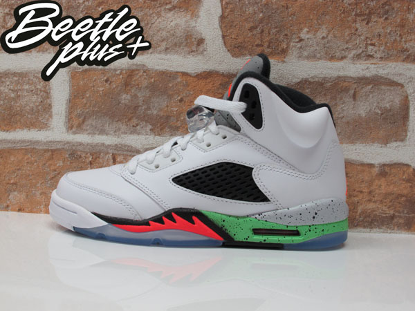 BEETLE PLUS AIR JORDAN V SPACE JAM 5代 3M 反光 大童鞋 女鞋 怪物奇兵 毒液綠 白綠 白黑紅 籃球鞋 流川楓 440888-115