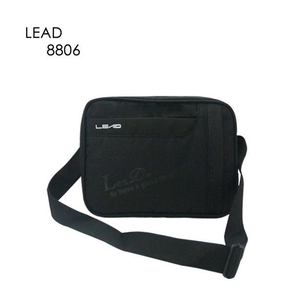 【加賀皮件】LEAD 台灣製造 多收納 可側背/可斜背 公事包 斜背包 側背包 8806