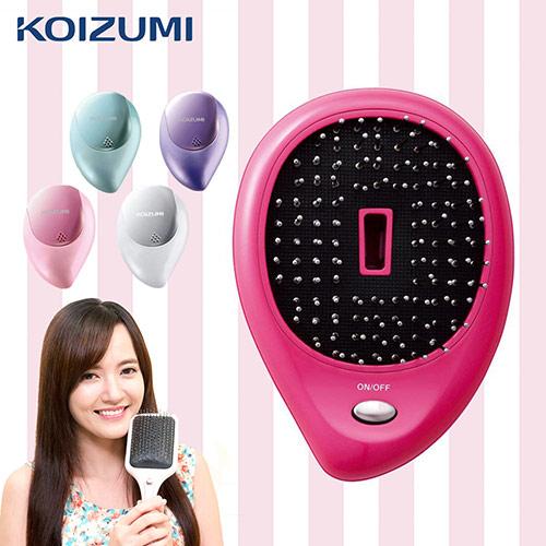 【KOIZUMI小泉成器】音波磁氣美髮梳 攜帶款附保護蓋-桃紅 KZB-0050VP