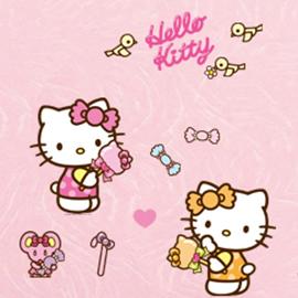 WallFree 窩自在 DIY 無痕創意牆貼/壁貼-Hello Kitty魔法棒棒糖