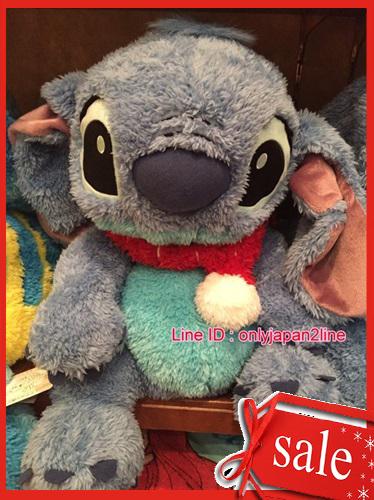 【真愛日本】16101200026 樂園限定棉柔手偶娃-圍巾史迪奇  迪士尼 星際寶貝 史迪奇   娃娃 抱枕 聖誕節 交換禮物 聖誕市集