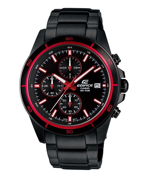 CASIO EDIFICE EFR-526BK-1A4黑騎士(紅)流行時尚腕錶/黑面44mm