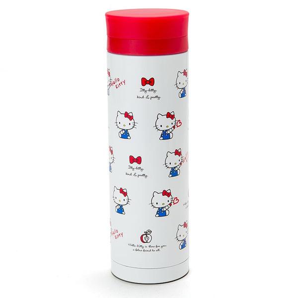 【真愛日本】15071700009保溫冷水壺460ml-坐姿白 三麗鷗Hello Kitty凱蒂貓 水壺 茶壺 水瓶