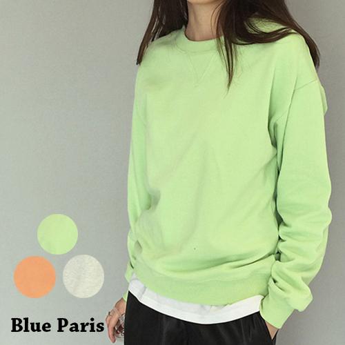 上衣 - 圓領純色下擺羅紋縮口寬鬆長袖T恤【29159】藍色巴黎-現貨《3色》現貨+預購