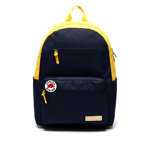 後背包 韓國品牌 AFRICA RIKIKO 防水後背包 NO.115 곤노(Navy+Yellow) - 包包阿者西