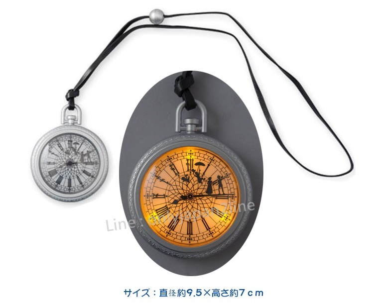 【真愛日本】12/1販售-樂園限定懷錶造型發光項鍊  迪士尼 樂園限定 小精靈  小飛俠 彼得潘   預購