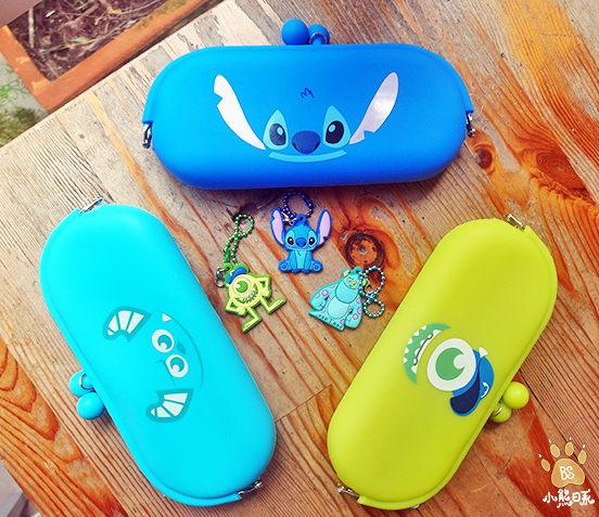 小熊日系* 迪士尼 毛怪大眼仔 史迪奇 矽膠筆袋 Stitch 收納包 萬用包 零錢包