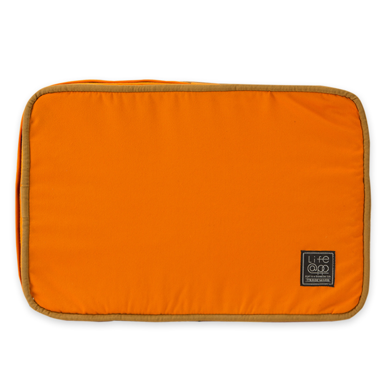 《Lifeapp》睡墊替換布套S_W65xD45xH5cm (橘藍) 不含睡墊