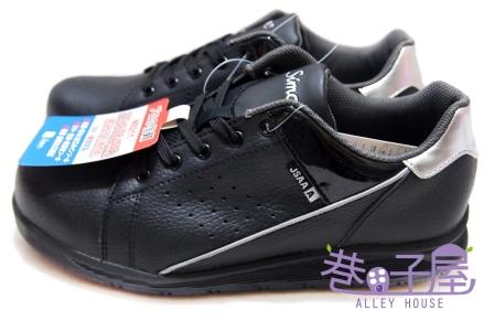 【巷子屋】Simon 男/女款超輕量塑鋼頭運動休閒鞋 JSAA認定品 [NS211] 黑 超值價$590