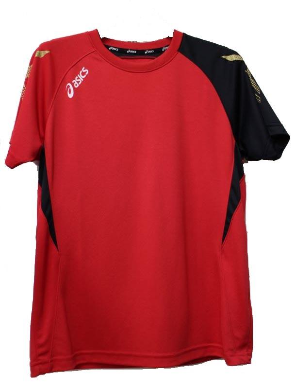 [陽光樂活=]ASICS 亞瑟士 室內運動系列 球衣 排汗衣 練習衣K31408-2390 紅.黃