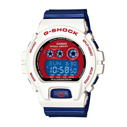 CASIO G-SHOCK GD-X6900CS-7鮮豔對比時尚腕錶/藍紅面57*54mm