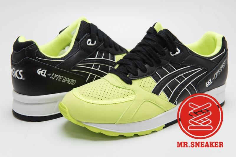 ☆Mr.Sneaker☆ ASICS Tiger GEL-LYTE SPEED 復古跑鞋 分離式鞋舌 緩震中底 男款 螢光黃
