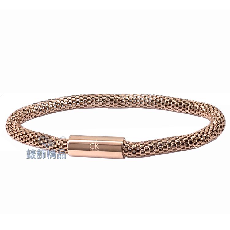 【錶飾精品】CK飾品 ck女性手環impulsive系列 316L白鋼 KJ1WPB1001-玫瑰金色 生日 情人節禮品