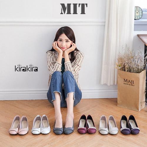 娃娃鞋- MIT氣質斜邊低跟包鞋-偏小