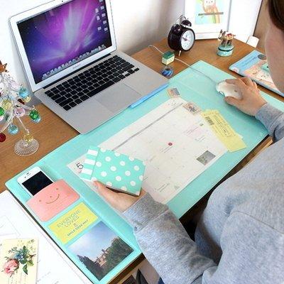 =優生活=韓國文具DESK MOUSE MAT 超大電腦遊戲桌面鼠標墊.辦公桌墊 超實用桌墊 防水桌墊 微笑桌墊