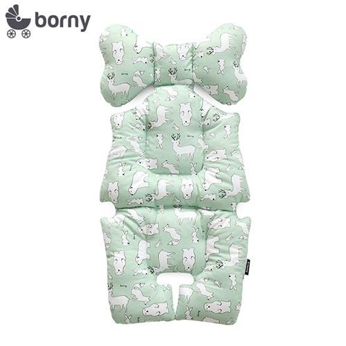 韓國【Borny】全身包覆墊(推車、汽座、搖椅適用) (綠熊鹿)