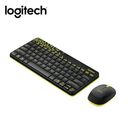 羅技 Logitech MK240 Nano 無線鍵盤滑鼠組-黑黃