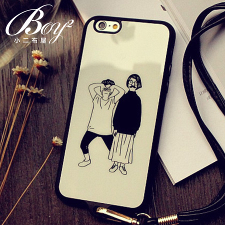 ☆BOY-2☆【N4008】多款圖案造型掛繩手機殼 蘋果iPhone6 5/5s