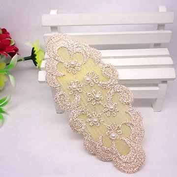 WallFree窩自在 鏤空蕾絲/珍珠/鑲鑽魔法瀏海貼片-珍珠蕾絲14
