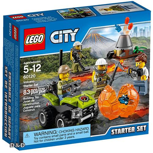 樂高積木LEGO《 LT60120 》City 城市系列 - 火山基礎組合