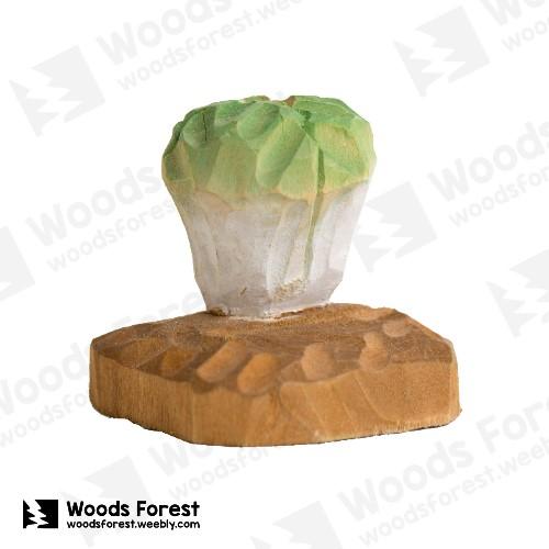 [絕版品] 木雕森林 Woods Forest - 木雕筆專用單孔筆座【高麗菜】( 造型可愛;小巧不佔空間!)