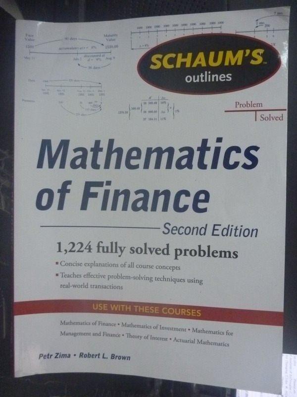 【書寶二手書T7/大學商學_ZCE】Schaums Outline of Mathematics2/e