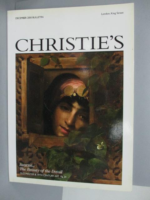 【書寶二手書T1/收藏_QAQ】Christie's_2010/12_The Beauty of the…