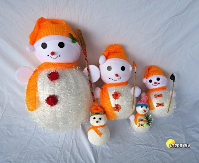 [橘子空間裝置藝術] 聖誕節雪人家族擺飾 ~繽紛聖誕節飾品~ ☆聖誕樹.居家.店面.櫥窗.玄關.大廳擺飾.節慶派對佈置☆