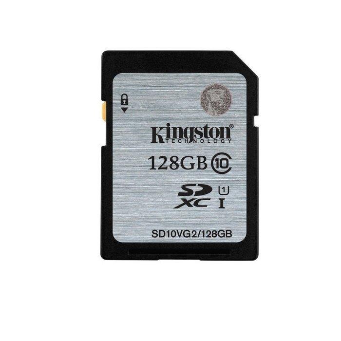 *╯新風尚潮流╭*金士頓記憶卡 128G 128GB SDXC C10 UHS-I U1 SD10VG2/128GB