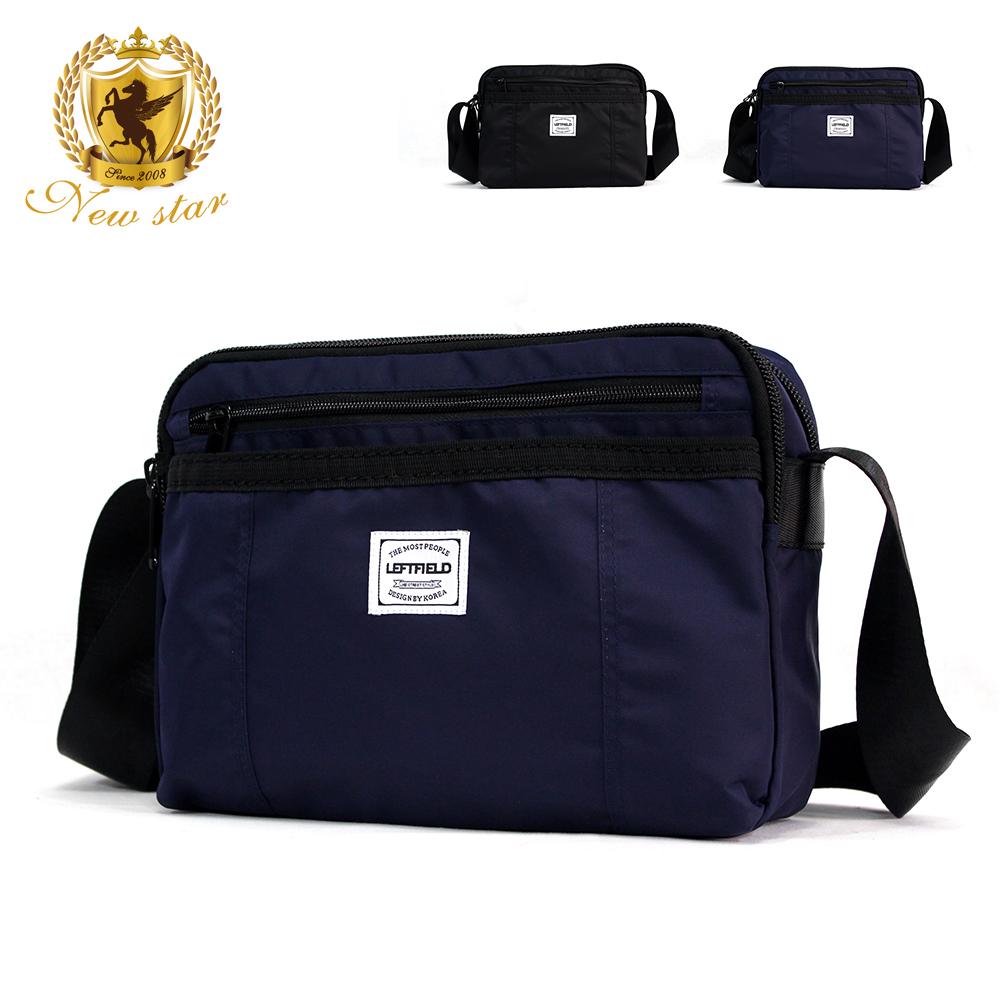 側背包 經典日系防水尼龍前口袋雙層斜背包 porter風 NEW STAR BL132