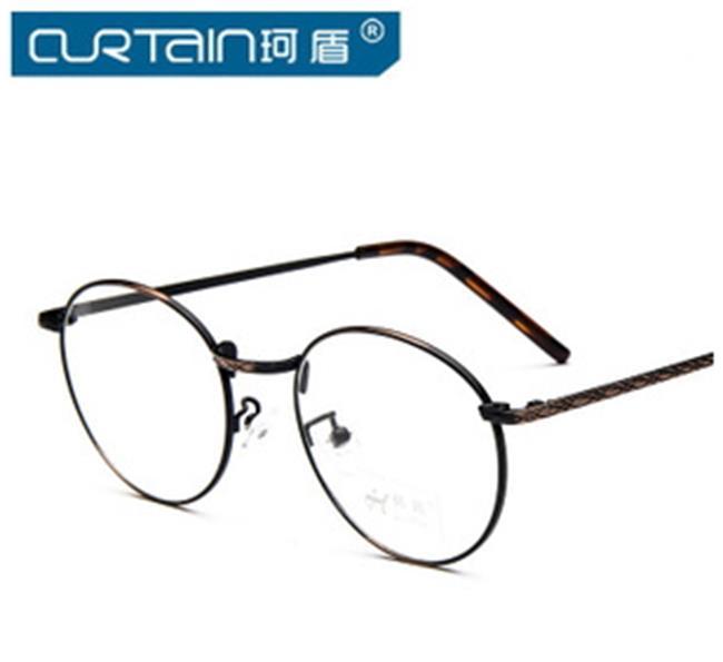 50%OFF【J009784Gls】新款韓版復古眼鏡框金屬圓框百搭男女眼鏡框架潮文藝 附眼鏡盒 防紫外線 明星款 反光鏡面