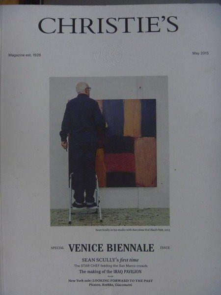 【書寶二手書T8/收藏_QIZ】Christies The Art People_2015/5_Venice..等