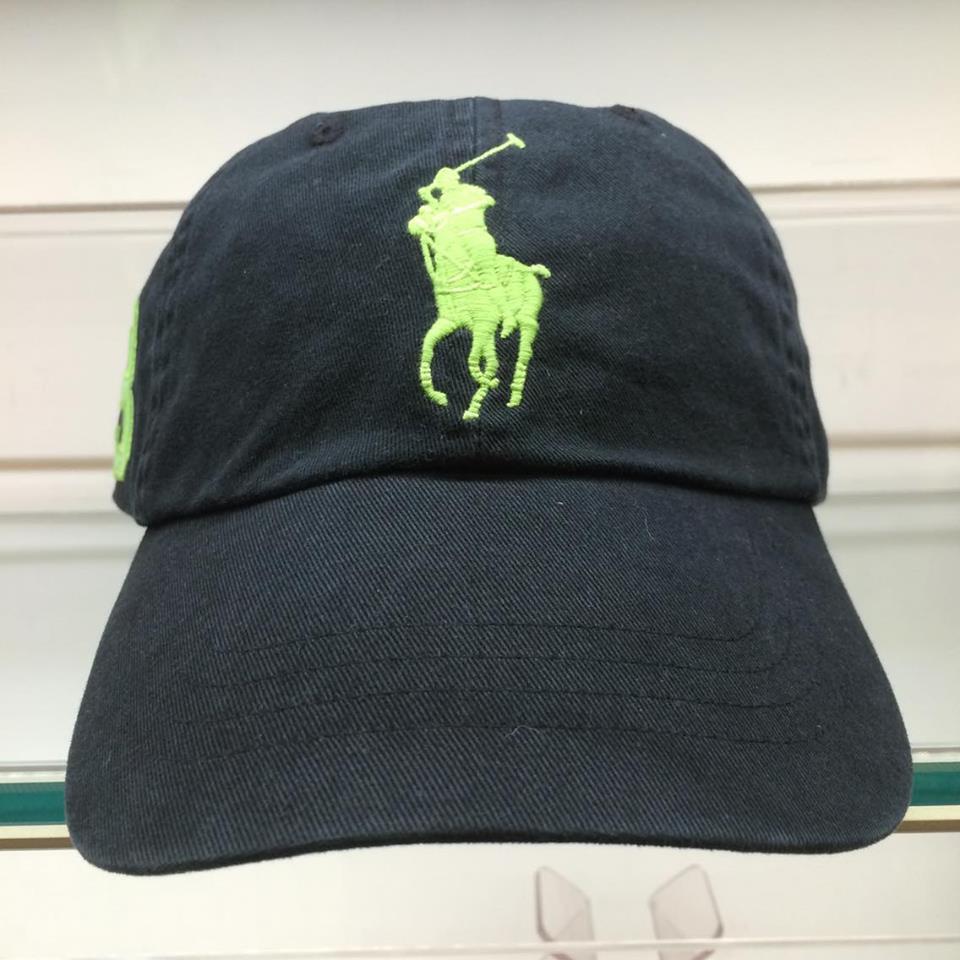 BEETLE POLO RALPH BASEBALL CAP 全黑 黑綠 馬球 LOGO 可調式 老帽 棒球帽 MN-386