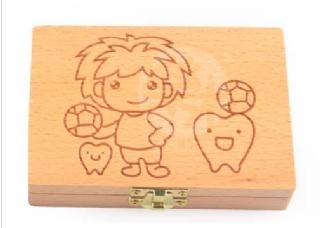 現貨 男寶 寶寶木製乳牙盒 胎毛保存盒