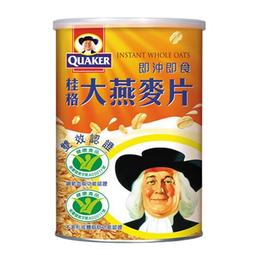 QUAKER桂格 即沖即食雙認證大燕麥片700g
