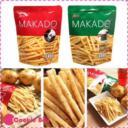*餅乾盒子* 泰國 MAKADO 麥卡多 薯條 27g 鹽味 海苔 辦公室 團購 零食 餅乾 馬鈴薯 酥脆 新鮮 點心
