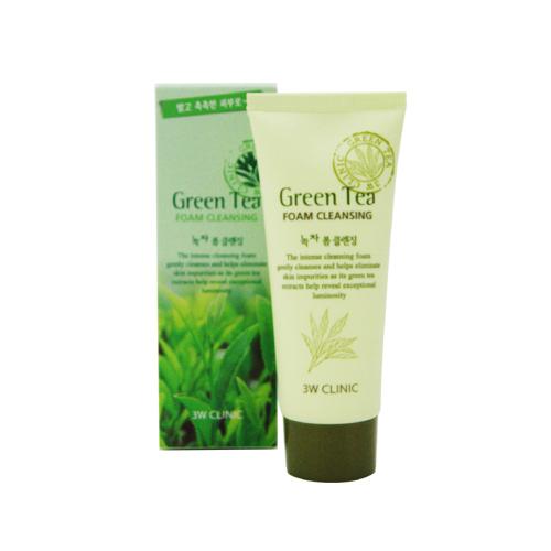 【3W Clinic】綠茶洗面乳 100ml  ►韓國美妝 原裝進口